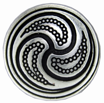 BS9168 SRTP ANTIQUE SILVER SCREWBACK CELTIC CONCHO