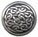 "BS9170 SRTP 1"" ANTIQUE SILVER CELTIC SCREW BACK CONCHO"