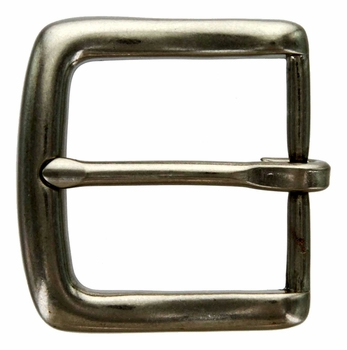 "BS-9983 NR Silver Heel Bar Buckle 1 3/8"" Wide"