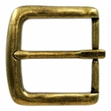 "BS-9983 OEB Brass Heel Bar Buckle 1 3/8"" Wide"