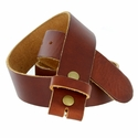 "BS80 Vintage Soft One Piece Full Leather Belt Strap 1-1/2"" Wide-Tan"