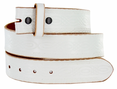 "BS085 Full Grain Leather Tooled Leather Belt Strap 1 1/2"" wide"
