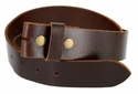 "BS103 Genuine Full Grain Vintage Leather Belt Strap 1-1/2"" Wide Brown"