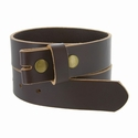 "BS105032 One Piece Full Genuine Leather Belt Strap 1-1/4"" (32mm) Wide-Brown"
