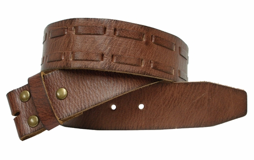 "BS111 Leather Belt Strap 1 3/4"" Wide"