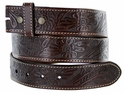 "BS118 Western Floral Engraved Tooled Leather Belt Strap 1-1/2"" - Brown"