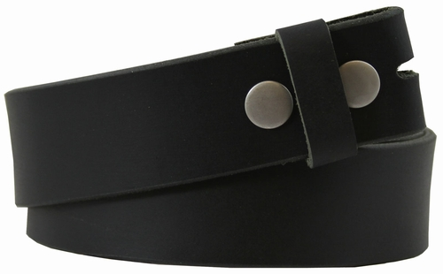"BS1300 100% Leather Belt Strap1 1/2"" Wide - Black"
