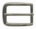 "BS3208 NP 30mm (1 1/8"") Solid Silver Belt Buckle"