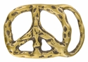 "BS3500 OEB Solid Brass Peace sign Buckle 1-3/4"" wide"