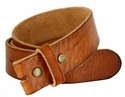 "BS40 Vintage Full Grain Leather Belt Strap 1 1/2"" Wide-Tan"
