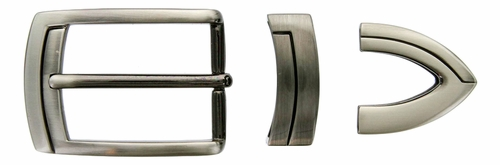 BS8191  Gun/NB  Metal 30mm Buckle Set