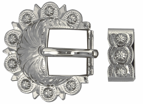BS8649 NP Nickle Plated Berry Buckle, Loop Set