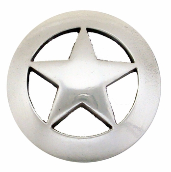 "BS9124 SRTP 1 1/8"" Antique Silver Star Concho"