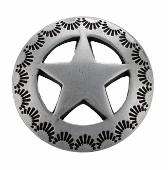 "BS9138 SRTP 1 1/8"" STAR CONCHO"