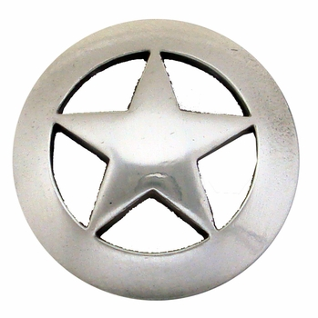 "BS9139 SRTP  1 1/2"" Antique Silver Star Concho"