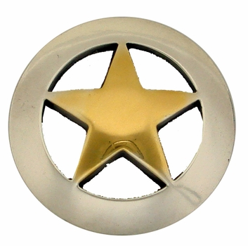 "BS9139 SRTPGP 1 1/2""  Star Concho Antique Silver & Gold Finish"