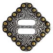 "BS9154-1 SRTPGP 1"" Swirl Slotted Berry Concho Diamond Concho"