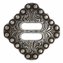 "BS9154-3 SRTP 1 1/2"" Swirl Slotted Berry Concho  Diamond Concho"