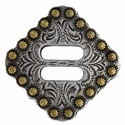 "BS9154-3 SRTPGP 1 1/2"" Swirl Slotted Berry Concho  Diamond Concho"