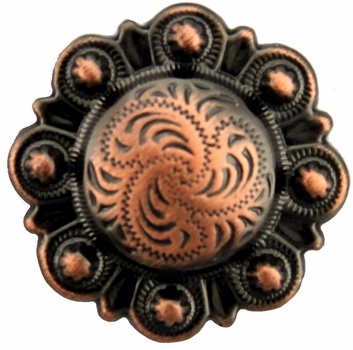 "BS9162 Copper 3/4"" Berry Concho"