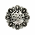 BS9163-1 Antique Nickel Berry Concho 1-1/4''