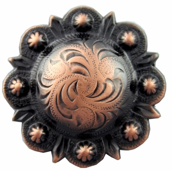 "BS9163-1 Copper 1 1/4"" Berry Concho"