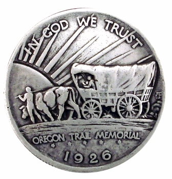 BS9183-B SRTP 1 1/4'' OREGON TRAIL MEMORIAL COVERED WAGON