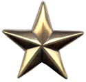 """BS9229 GRTP 1 1/8"""" Antique Gold Star Concho"""