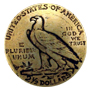 """BS9235B  GRTP 3/4"""" Antique Gold Eagle Coin Concho"""