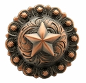 "BS9264-2 Copper 1-1/4"" Star Berry Concho"