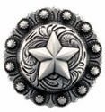 "BS9264-3 SRTP 1 1/2"" Star Berry Concho"