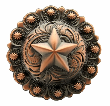 "BS9264-4 Copper 1-3/4"" Star Berry Concho"