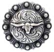 "BS9265-2 SRTP 1-1/4"" Texas Longhorn Steer Berry Concho"