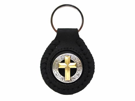 BS9270 SRTPGP Cross Concho Key Fob Ring