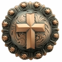 "BS9279-1 COPPER 1-1/4"" CROSS BERRY CONCHO"
