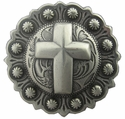 "BS9279-4 SRTP 1"" Cross Berry in Antique Silver Finish"