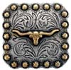 "BS9285-1 SRTPGP 1"" Gold Longhorn Steer/berry Concho"