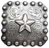 "BS9287-1 SRTP  1"" Star Berry Square Concho"