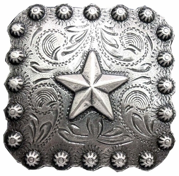 "BS9287 SRTP 2 1/4"" Star Berry Concho"
