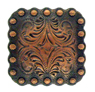 "BS9291-1 Copper 1"" Berry Square Concho"