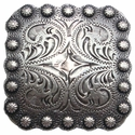 BS9291-2F Flat-Back SRTP Berry Square Concho 1 3/8""