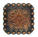 "BS9291 Copper 2 1/4"" Berry Square Concho"