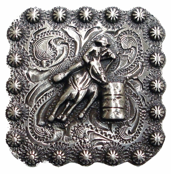 "BS9294-2 SRTP 1 3/8"" Barrel Racer  Square Concho"