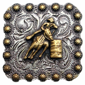"BS9294 SRTPGP 2 1/4"" Barrel Racer Square Concho"