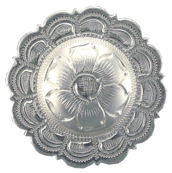 "BS9305-1 SP 1"" Concho Bright Silver"