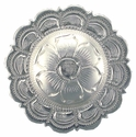 "BS9305-3 SP 1 1/2"" Bright Silver Concho"