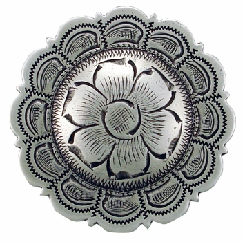 "BS9305 LASRP 3/4"" Concho Antique Silver"