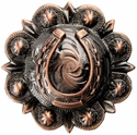 "BS9306-4  Copper 1 3/4"" Horseshoe Berry Conchos"