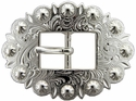 BS9307 SP Bright Silver Cart Berry Centerbar Buckle 3/4""