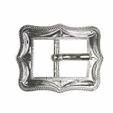 "BS9308-2 SP 5/8"" Shiny Silver Cart Buckle"